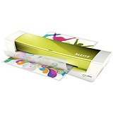Leitz iLam Home Office Laminator Up To 250 Microns 3mins Warm-up Time A4 Green [Promo]