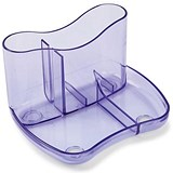 Image of Contemporary Desk Tidy with 4 Compartments - Purple