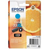 Image of Epson T33XL Inkjet Cartridge Capacity 8.9ml Cyan Ref C13T33624012