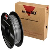 Image of Inno3D ABS Filament for 3D Printer 1.75x200mm 0.5kg Silver Ref 3DPFA175SL05
