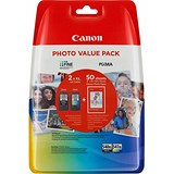 Canon 540XL/541XL Inkjet Cartridge 600pp Black/CMY 50 Sheets 4x6 Photo Paper Ref 5222B013 (Pack 2)