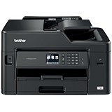 Image of Brother Colour Inkjet Multifunction Printer Wired and Wireless 20ipm A4 Black Ref MFCJ5330DWZU1