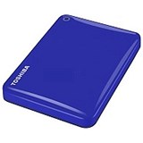Image of Toshiba Canvio Connect II Hard Drive / USB 3.0 and 2.0 / 3TB / Blue
