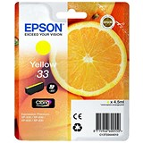 Image of Epson T33 Inkjet Cartridge Capacity 4.5ml Yellow Ref C13T33444012