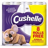 Cushelle Toilet Rolls / 2-ply / White / Pack of 24 Plus 8 FREE
