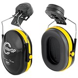 Image of JSP InterGP Helmet Mounted Ear Defenders Adjustable 25DB Lightweight EN 352-3 Black/Yellow