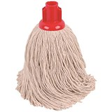 Robert Scott & Sons Rough Surface Mop Head / Socket / PY Yarn / 16oz / Red / Pack of 10
