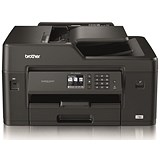 Image of Brother Colour Inkjet Multifunction Printer Wired and Wireless 20ipm A3 Black/Silver Ref MFCJ6530DWZU1