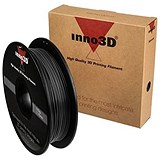 Image of Inno3D PLA Filament for 3D Printer 1.75x200mm 0.5kg Black Ref 3DPFP175BK05