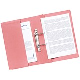 Image of Guildhall Heavyweight Pocket Transfer Files / 420gsm / Foolscap / Pink / Pack 25