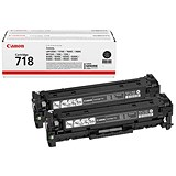 Image of Canon 718 Toner Cartridge Page Life 3400pp Black Ref 2662B005 [Pack 2]