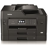 Image of Brother Colour Inkjet Multifunction Printer Wired and Wireless 20ipm A3 Black/Silver Ref MFCJ6930DWZU1
