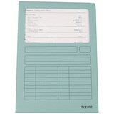 Image of Leitz A4 Window Folder / 160gsm / Light Blue/ Pack of 100