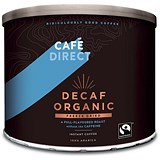 Image of Cafe Direct Classics Decaffeinated Fairtrade Organic Roast Instant Coffee - 500g
