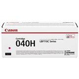 Canon 040H High Yield Magenta Laser Toner Cartridge