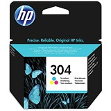 Image of HP 304 Tri-Colour Ink Cartridge