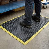 Image of Coba Mat Rubber Anti Fatigue Textured Anti Slip Bevelled Edge Bubble Pattern 900x1200mm Ref BF010702