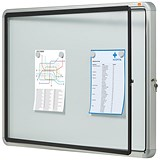 Image of Nobo Outdoor Noticeboard with Lockable Glazed Case / 6xA4 / W692xD45xH752mm
