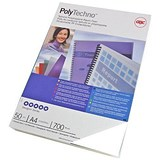 Image of GBC PolyCovers Techno Binding Covers / 700 micron / Ice White / A4 / Pack of 50