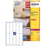 Image of Avery Smartstamp Logo Laser Labels / 10 per Sheet / 135x38mm / L5103-40 / 400 Labels