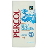 Percol Fairtrade Decaffeinated Colombia Medium Roasted Ground Coffee - 200g