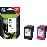 HP 301 Black/Tri-Colour Ink Cartridges (2 Cartridges)