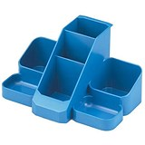 Image of Avery Basics Desk Tidy with 7 Compartments - Blue