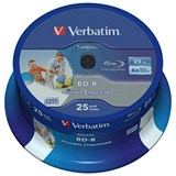 Verbatim Blu-Ray BD-R 25GB Recordable Discs / Pack of 25