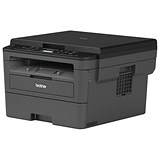 Image of Brother DCP-L2510D Mono Laser Multifunction Printer 30ppm Mono USB Connection Black Ref DCPL2510DZU1