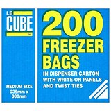 LeCube Freezer Bags / Medium / Pack of 200