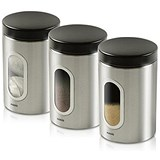 Image of Addis Stainless Steel Airtight Windowed Canisters