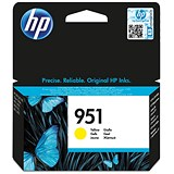 Hewlett Packard[HP] No.951 Inkjet Cartridge Page Life 700pp 8ml Yellow CN052AE