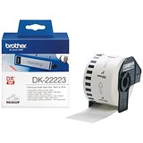 Brother Label Continuous Paper Tape 50mm x 30m White Ref DK22223