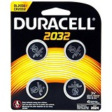 Image of Duracell CR2032 Lithium coin Battery Silver Ref 81575811 [Pack 4]