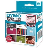 Image of Dymo Durable Labels D1 Tape Temperature UV and Water Resistant 25mmx54mm White Ref 1976411 [Pack 160]