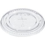 Solo Flat Lid / Straw Slot / Clear / Pack of 100