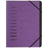 Image of Pagna Pro Elasticated Files / 7-Part / A4 / Purple / Pack of 5