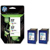 Image of HP 57 Colour Ink Cartridge (Twin Pack)