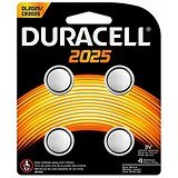 Image of Duracell CR2025 Lithium coin Battery Silver Ref 81575810 [Pack 4]