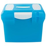 Image of File Box with Suspension Files and Index Tabs Plastic A4 Blue