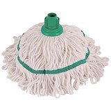 Image of Robert Scott & Sons Hygiemix T1 Socket Mop Cotton & Synthetic Yarn Colour-coded 250g Green Ref YLTG250