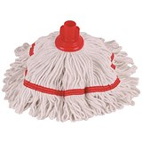 Image of Robert Scott & Sons Hygiemix T1 Socket Mop Cotton & Synthetic Yarn Colour-coded 250g Red Ref 103064RED