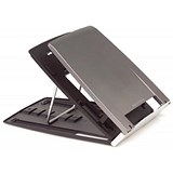 Image of Bakker Elkhuizen Ergo-Q330 Notebook Stand Height-adjustable 6 Positions 228x310x13mm Grey Ref BNEQ330