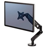 Fellowes Platinum Series Single Monitor Arm 360-degree Rotation Up To 30in Holds 9kg Black Ref 8043301