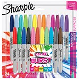 Sharpie Colour Burst Permanent Marker / Fine / Assorted / Pack 24