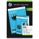 Hewlett Packard [HP] 953XL Inkjet Cartridges Page Life 1600x3pp Cyan/Magenta/Yellow 1CC21AE [Pack 3]