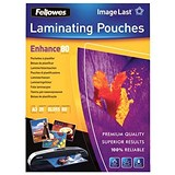 Image of Fellowes A3 Laminating Pouches / 160 Micron / Glossy / Pack of 25