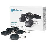 Image of Safescan Key Fobs Pack RF-110 Radio Frequency Identification [for TA-810 & TA-850] Ref 125-0342 [Pack 25]