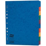 Image of Europa Subject Dividers / Extra-wide / 10-part / A4 / Assorted