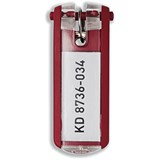 Image of Durable Key Clip Red Ref 1957-03 [Pack 6]